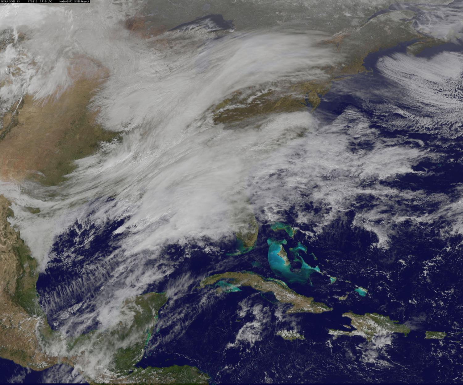 Nasa Noaa Satellites See Winter Storm Madness March To