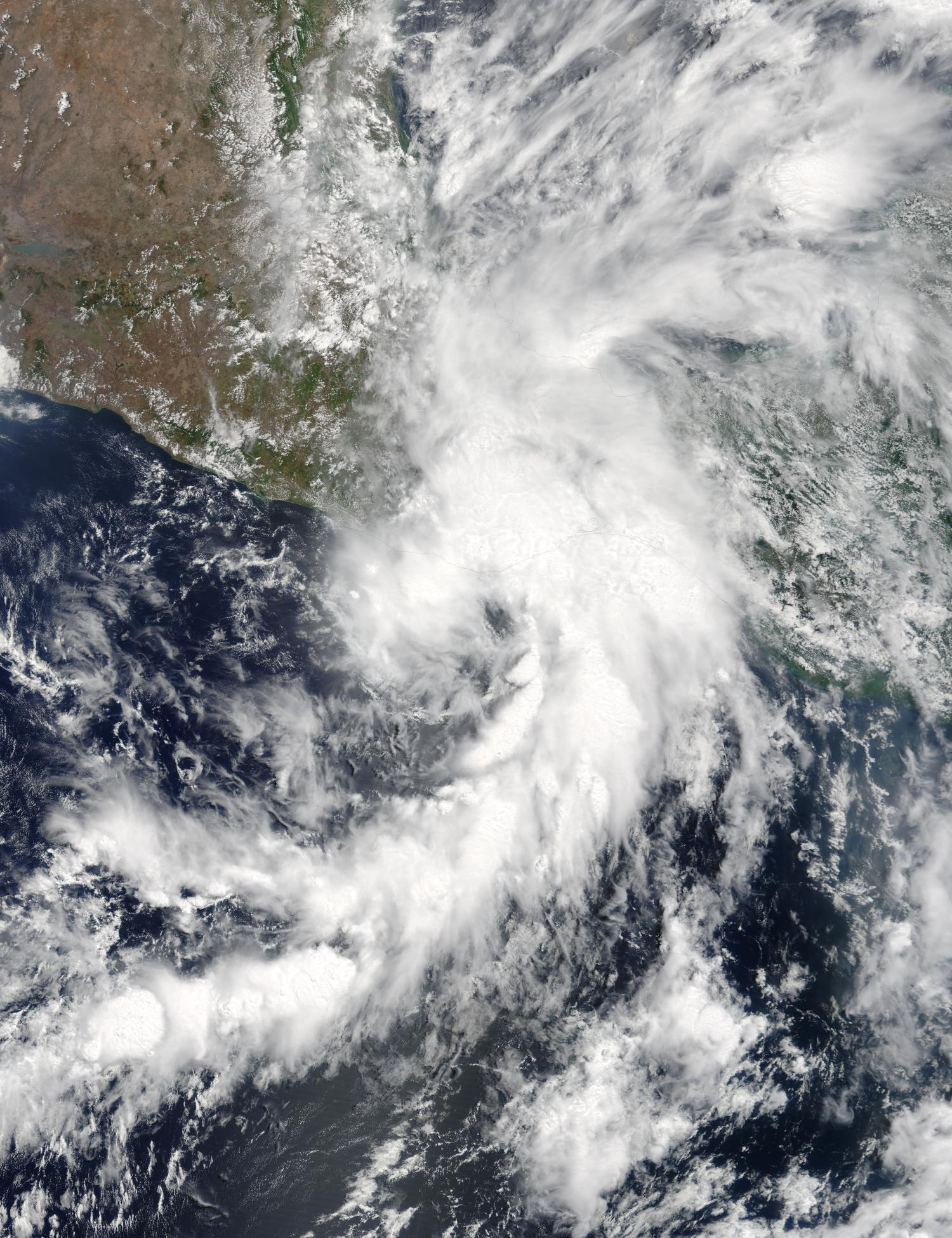 Tropical Depression Beatriz weakens over southern Mexico