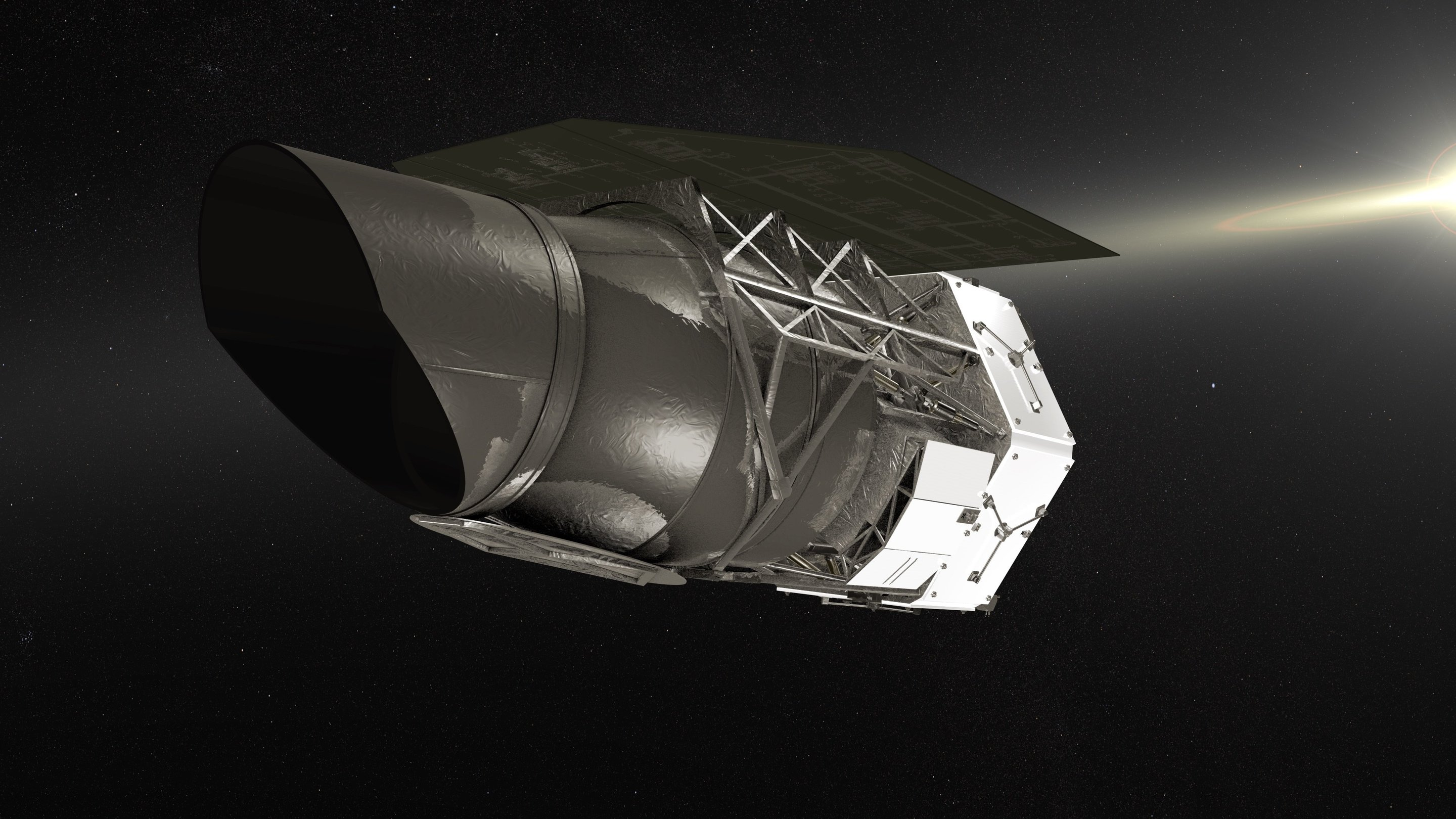 The WFIRST telescope will receive half of the funding requested 100