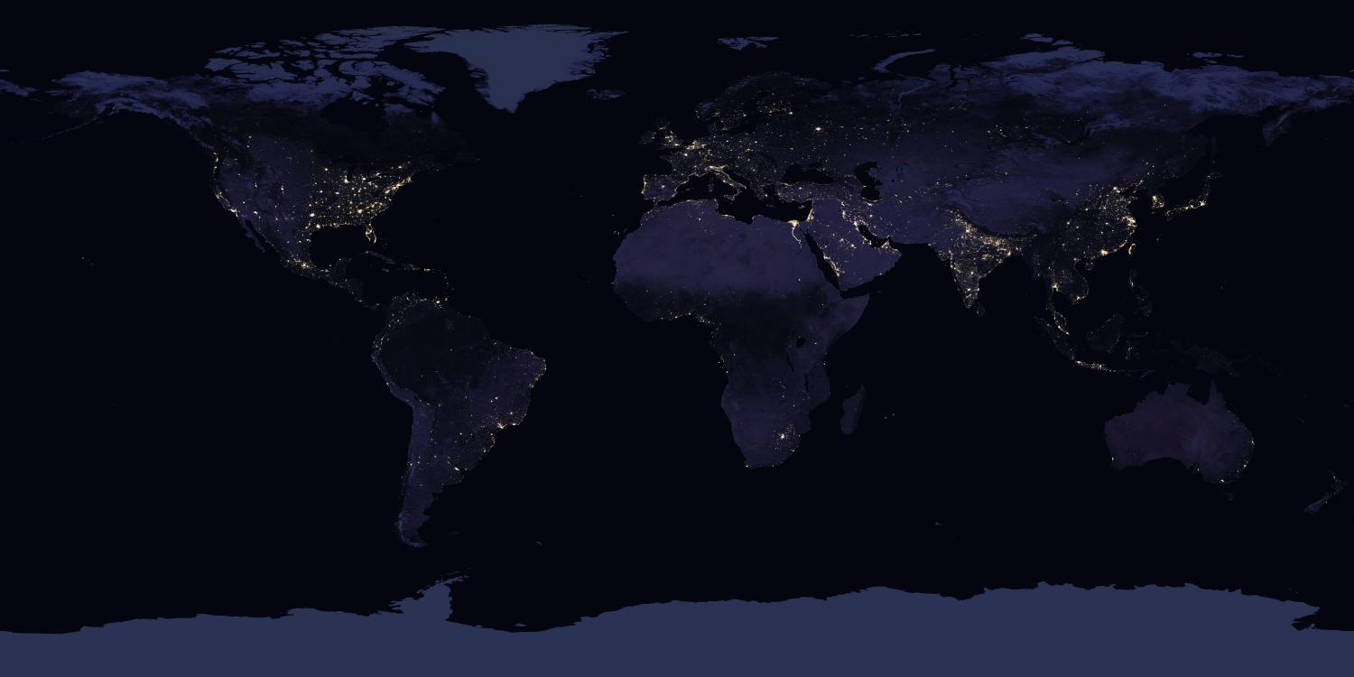 NASA images show how Earth looks from space at night