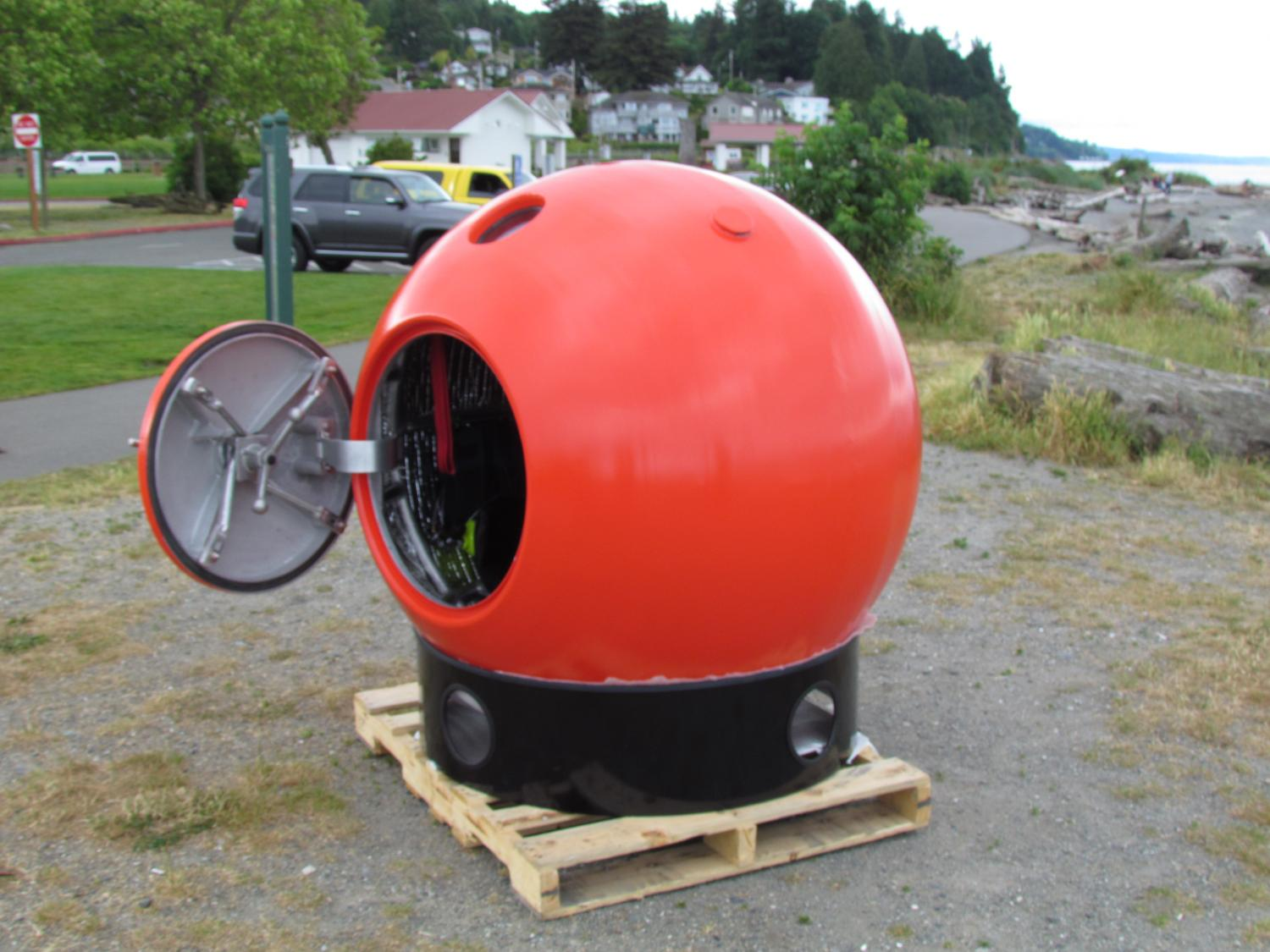 Survival Shelter Metal : No time to run tsunami pod aims save lives—at a price