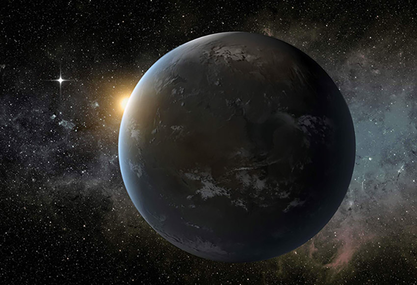 An artist's rendering of an exoplanet is shown. An exoplanet is a planet  that exists outside Earth's solar system. Credit: NASA/Ames/JPL-Caltech