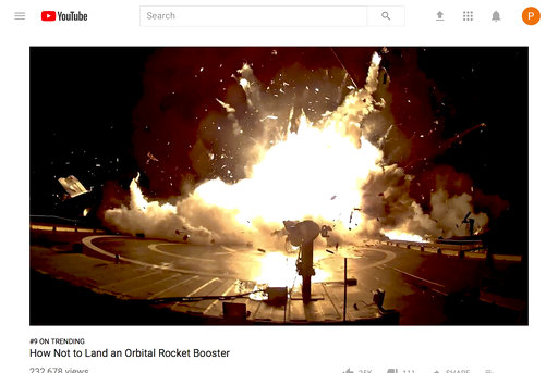spacex bloopers video how not to land an orbital rocket