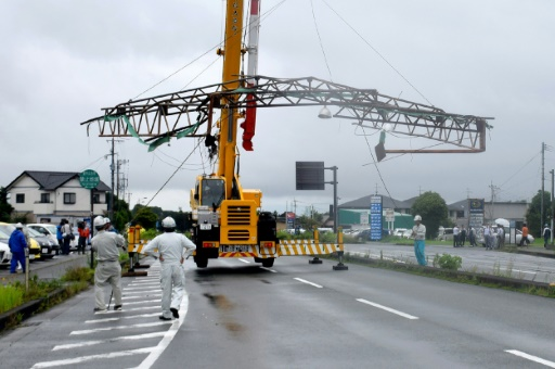 Typhoon rips through Japan archipelago, causing mudslides, blackouts