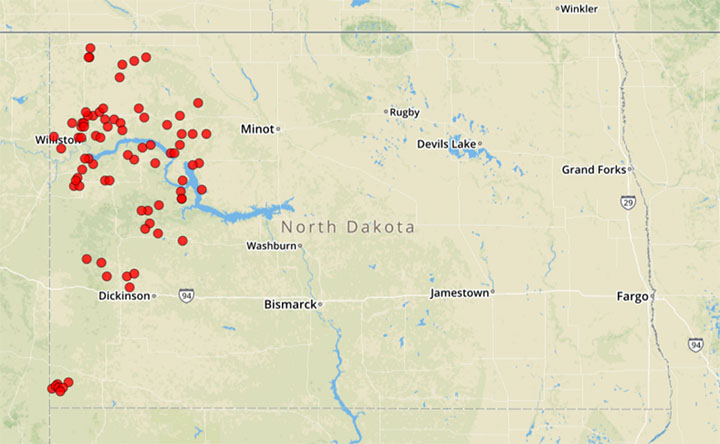 Fracking In Wyoming Map.Study Finds 6 600 Spills From Fracking In Just Four States