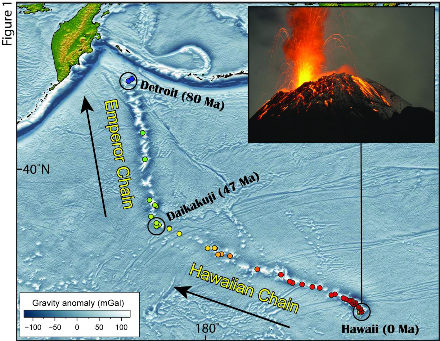 The mysterious bend in the Hawaiian-Emperor chain
