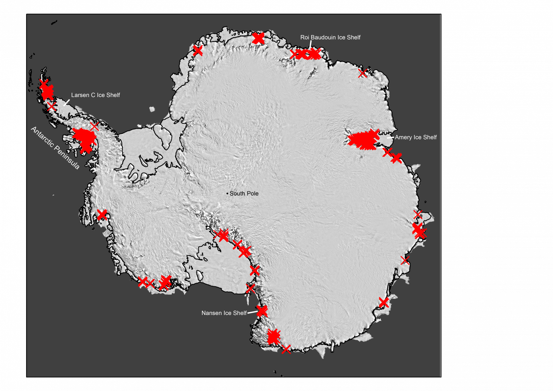 Risultati immagini per Flow of Ice Across Antarctica