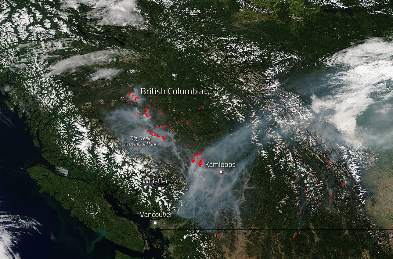 Wildfires Continue To Beleaguer Western Canada