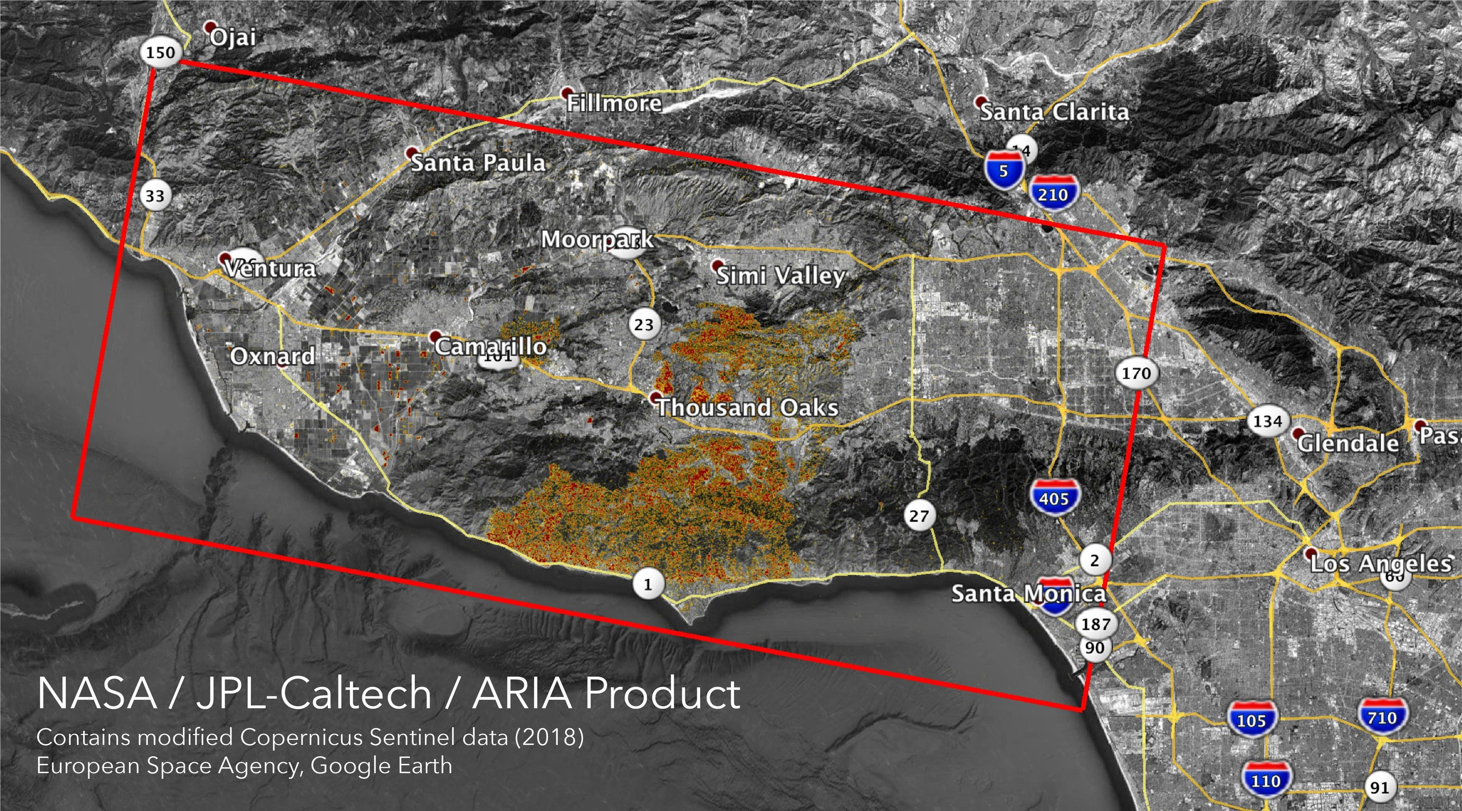 Newman California Map.Nasa S Aria Maps California Wildfires From Space