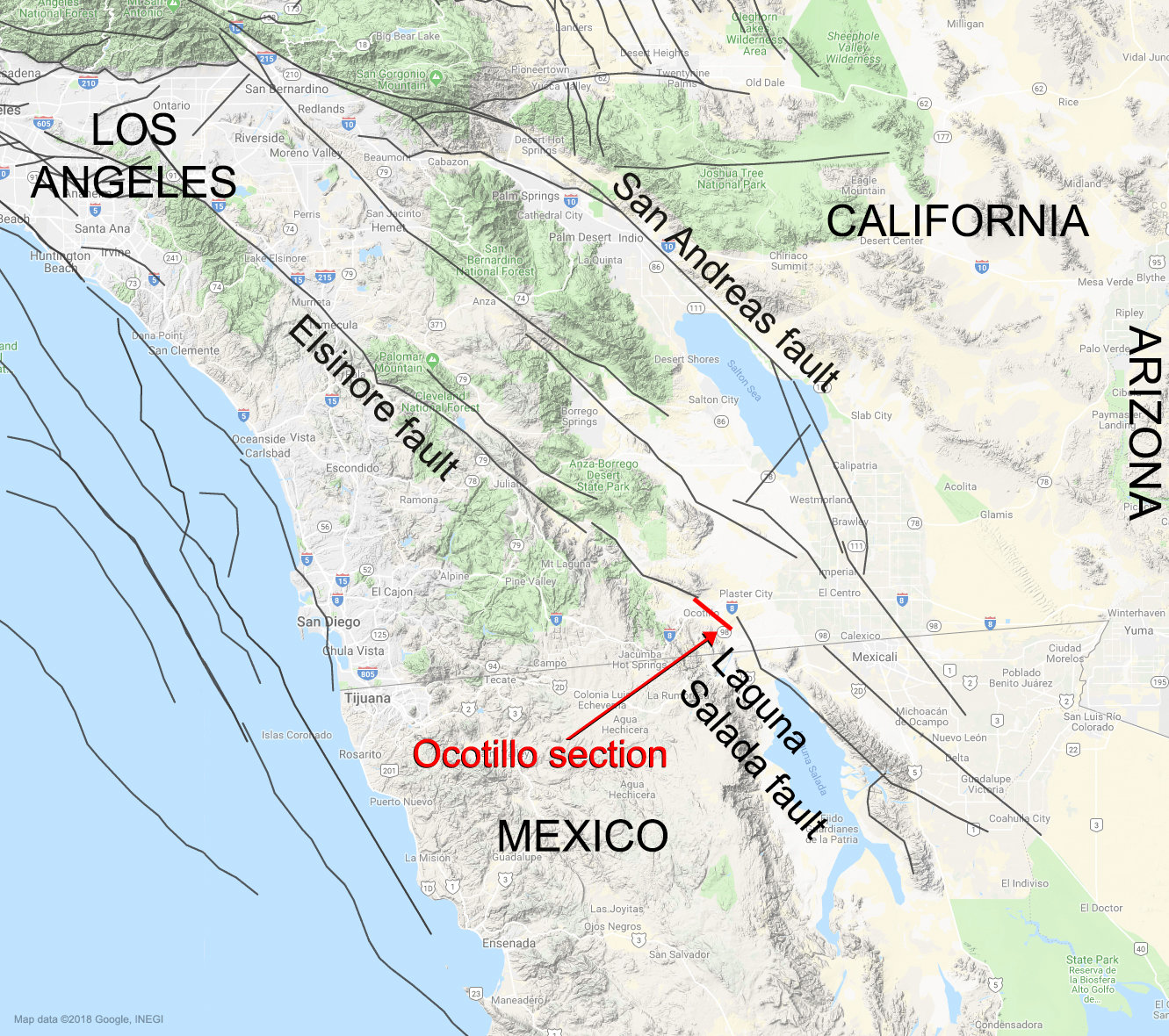 Nasa Study Connects Southern California Mexico Faults