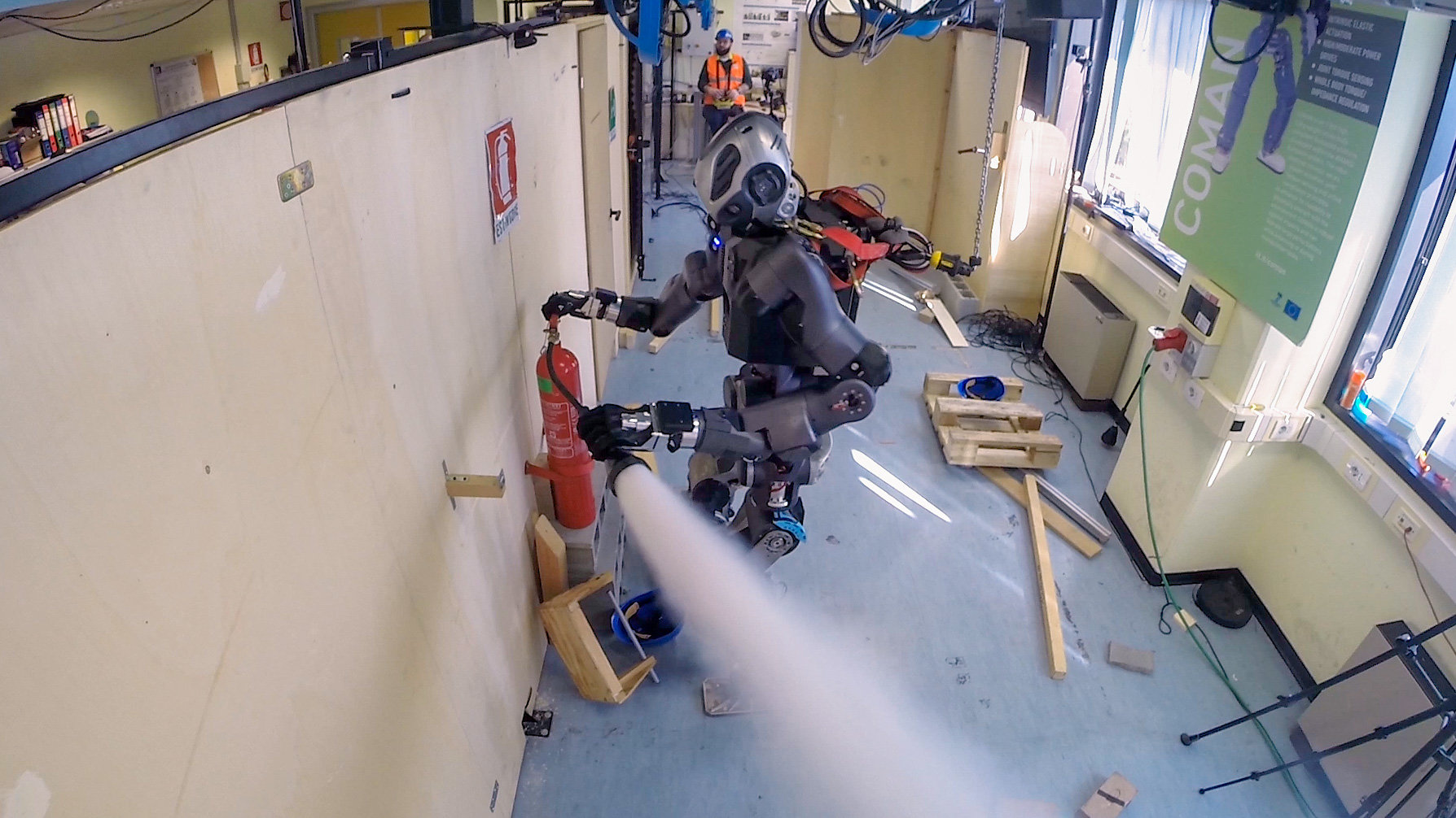 Humanoid Robot Supports Emergency Response Teams