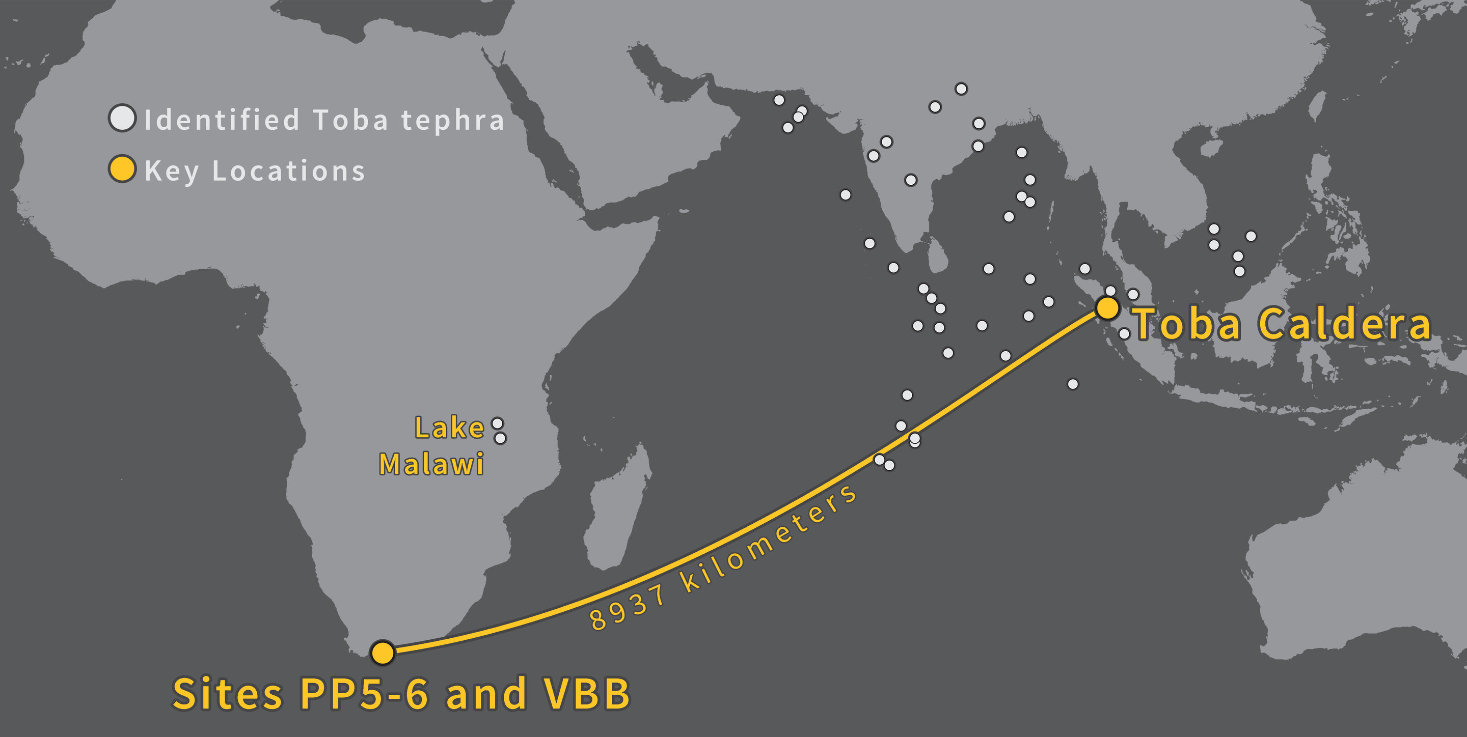 Humans thrived in South Africa through the Toba super-volcanic eruption about 74,000 years ago