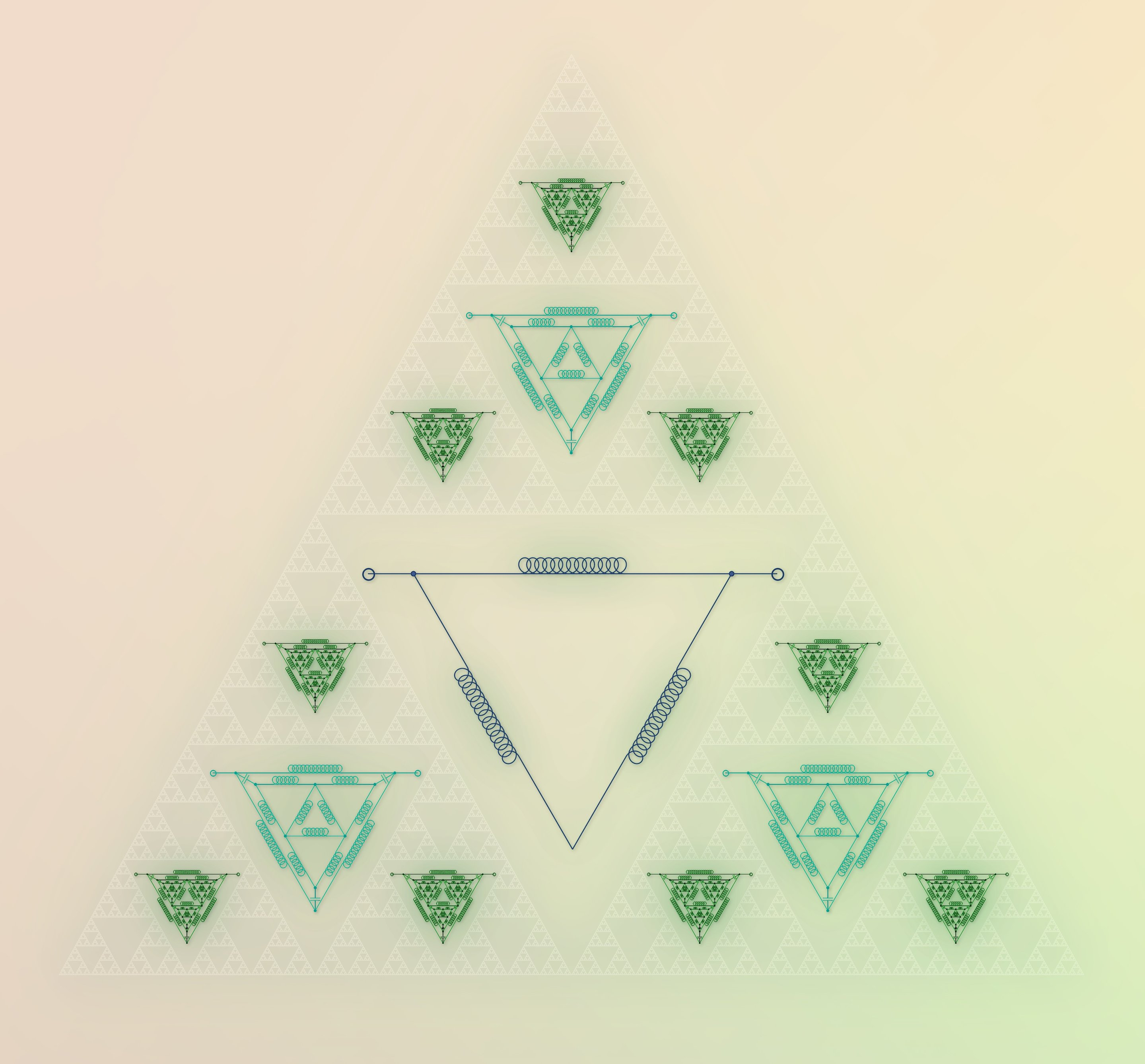 The splendid generative potential of the Sierpinski triangle