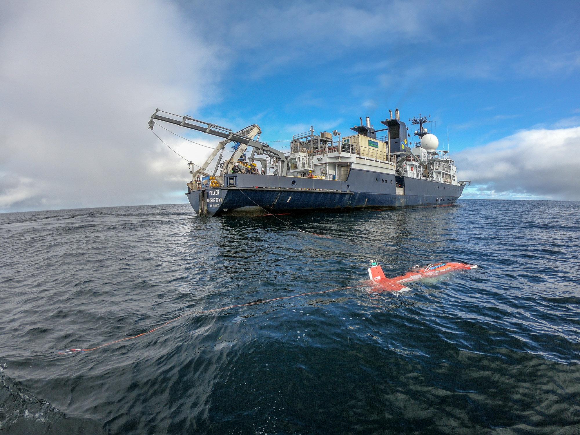 Artificial intelligence guides rapid data-driven exploration of underwater habitats