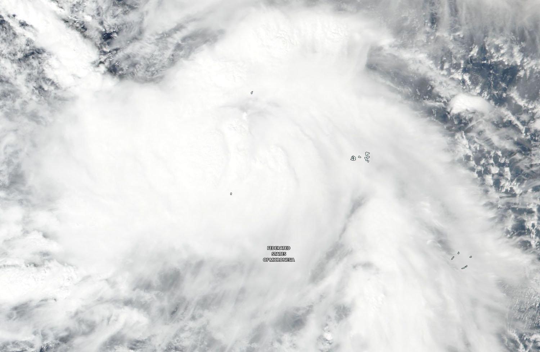 nasa sees tropical storm man yi approaching typhoon strength