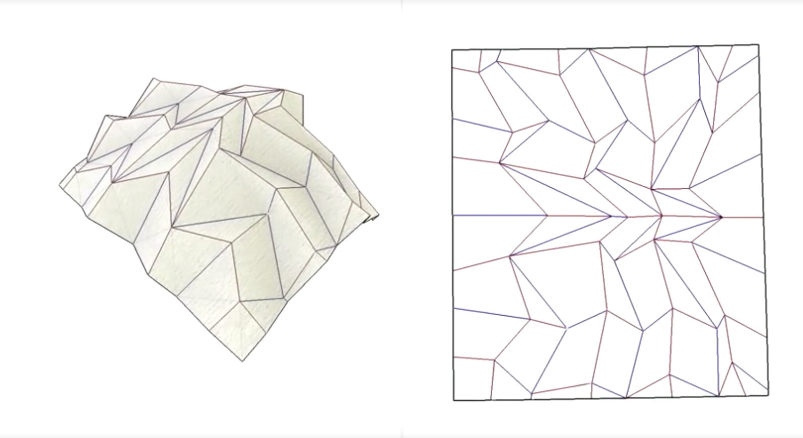 Origami Opens Up Smart Options For Architecture On The Moon And Mars Complex Diagrams Pdf Freeform Software By Collaborator Tomohiro Tachi Allows Team To Sculpt Or Generate Forms While Altering Crease Pattern Of
