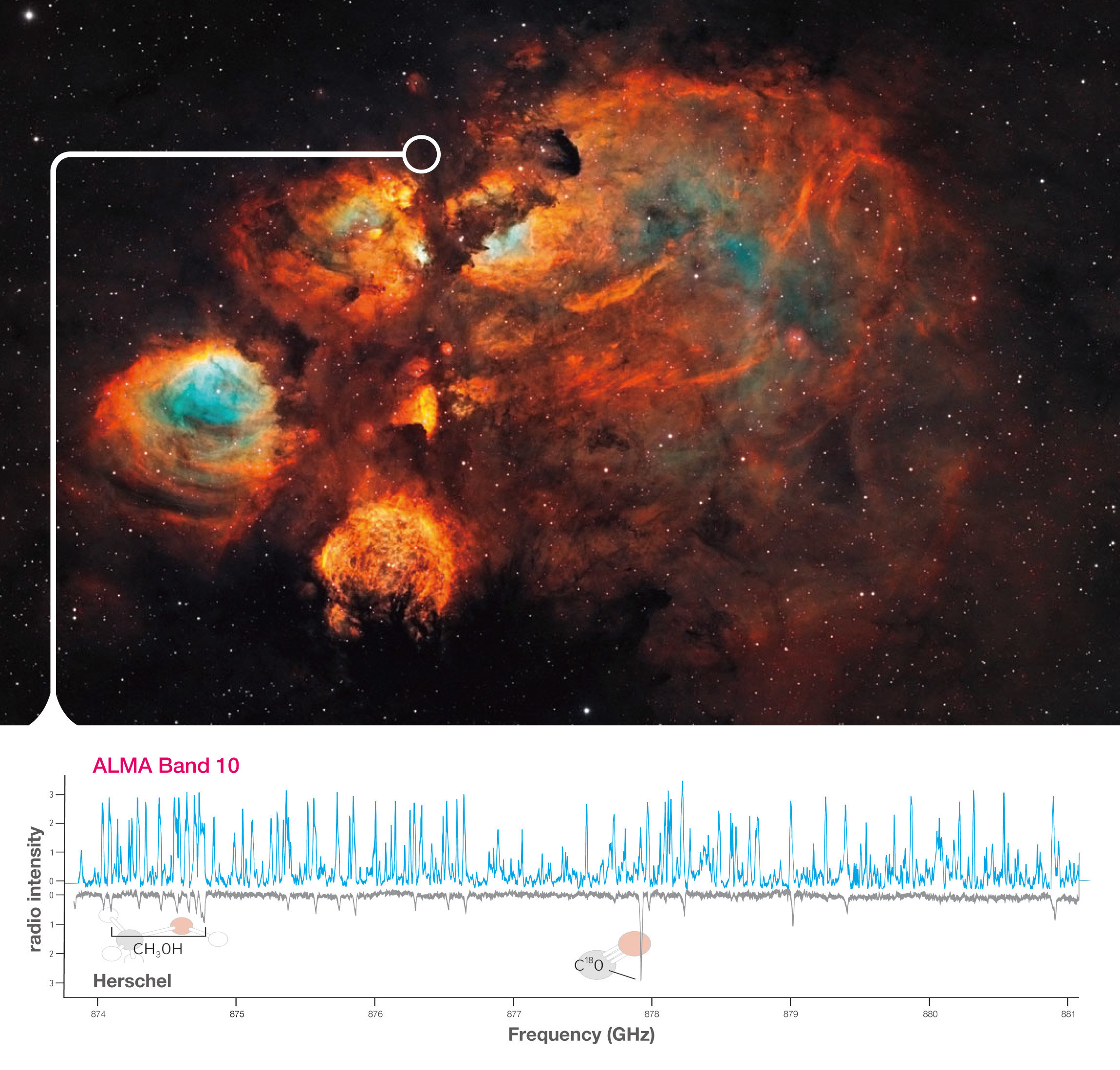 ALMA's highest frequency receiver produces its first scientific