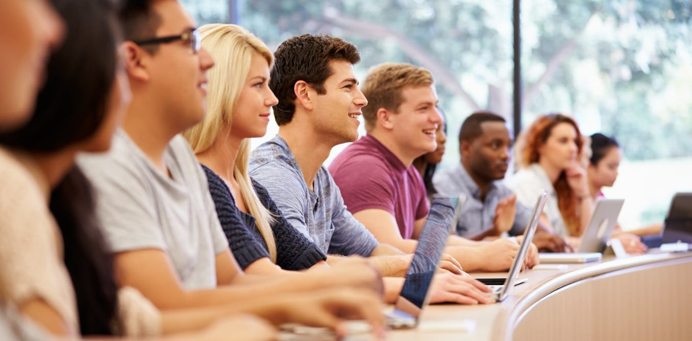 A new study reveals that students gain an appreciation for views across the  political spectrum during their first year in college. Credit:  Shutterstock.com