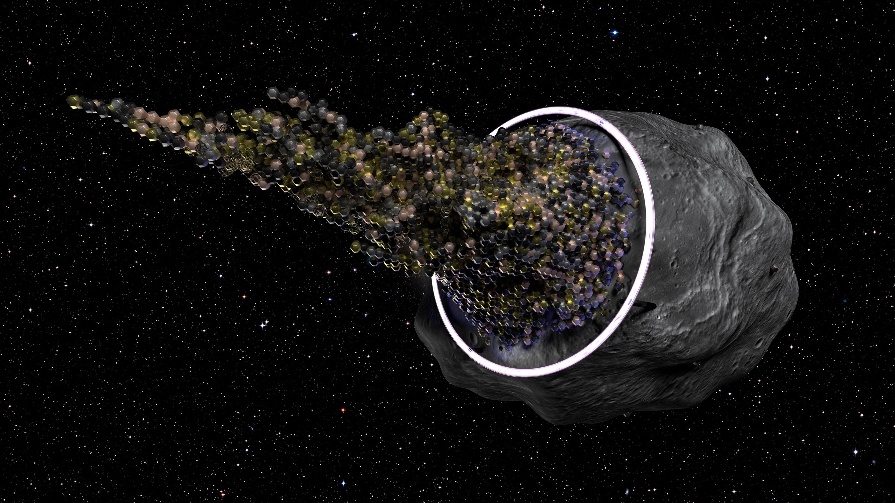 evolving asteroid starships project
