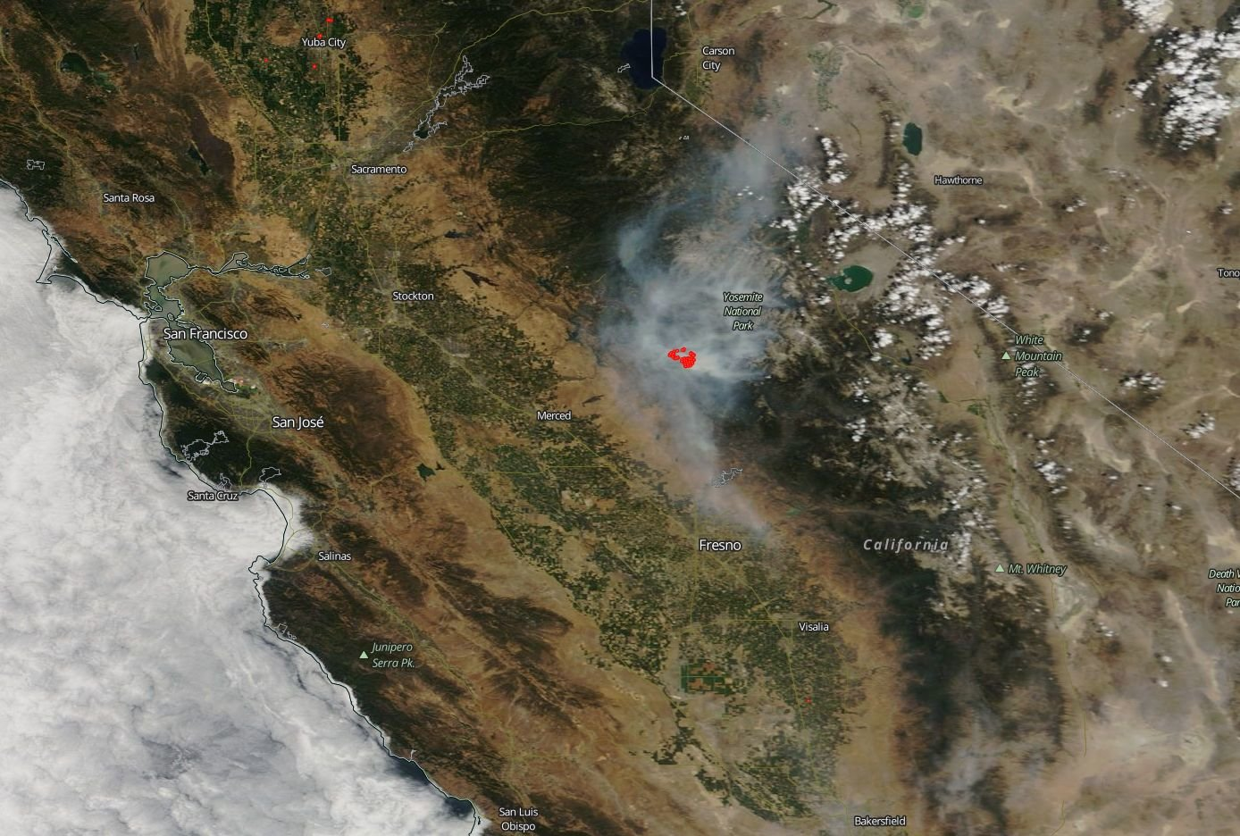 Ferocious Ferguson fire in California threatens Mariposa—again