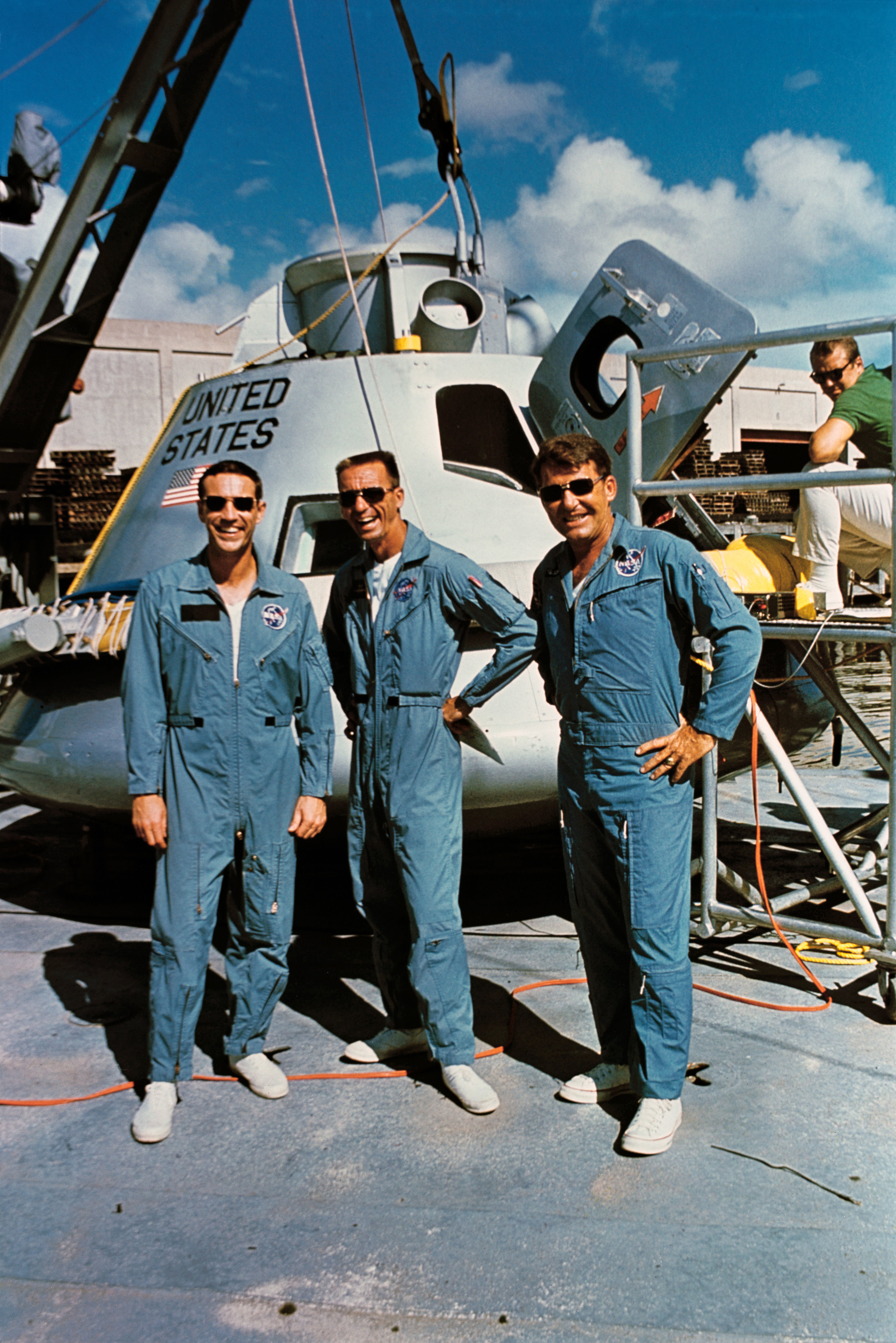 Where Did The Races Come From: Image: Apollo 7 Crew Trains To Test Technology For