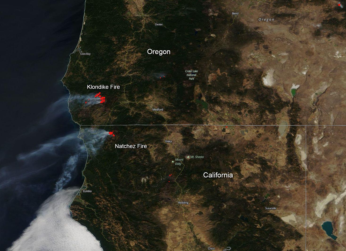 Image California And Oregon Fires Still Blazing