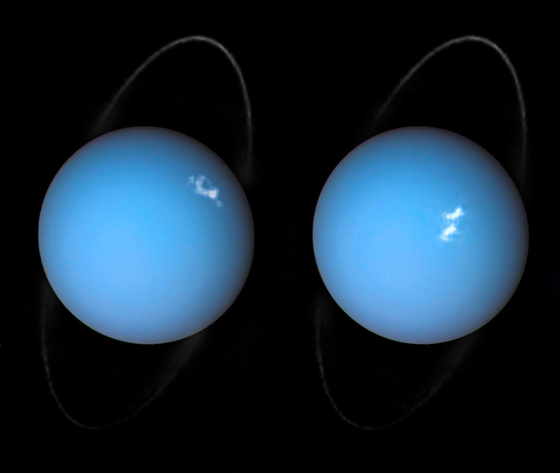 Image  Polar Lights On Uranus