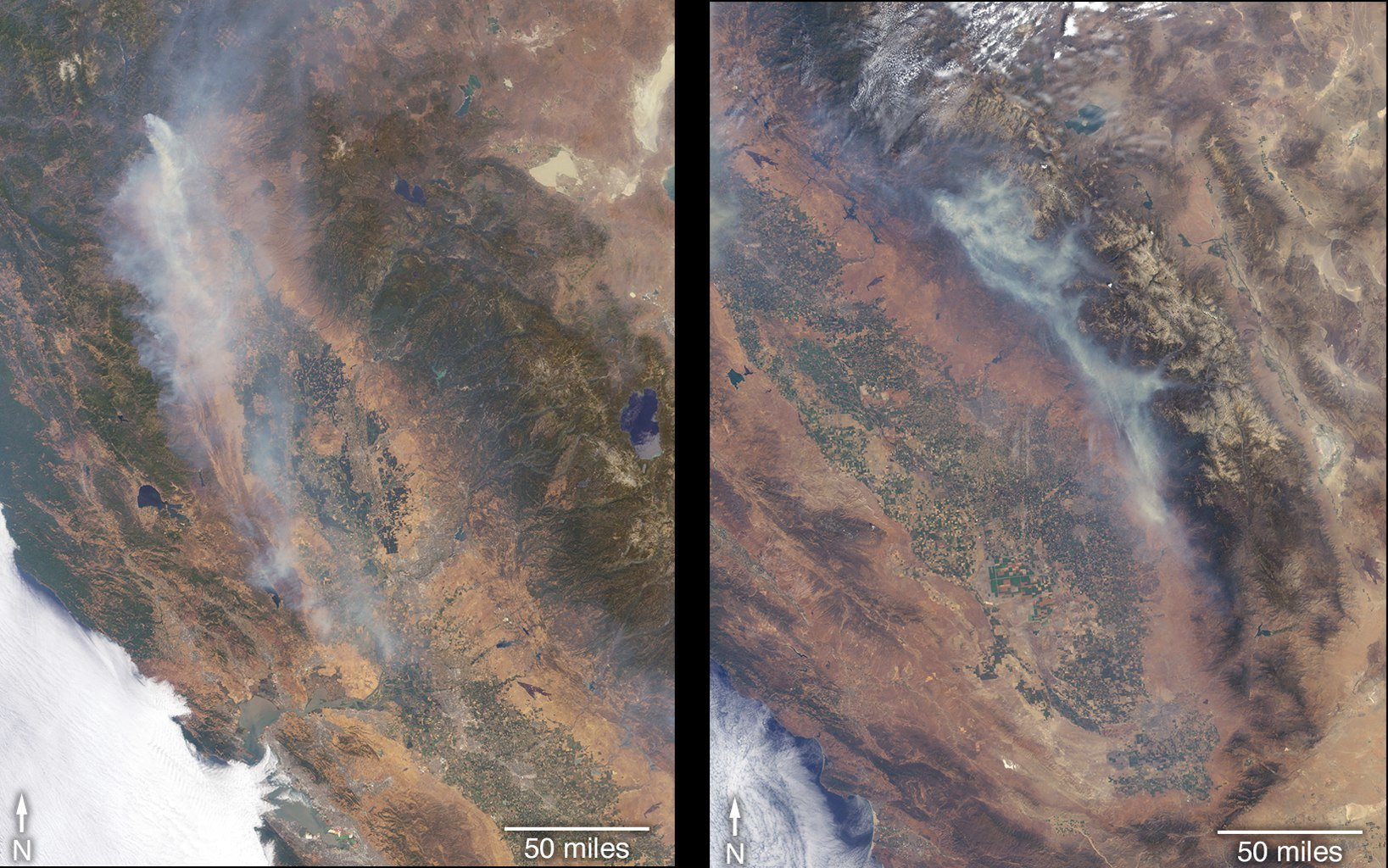 Forest fires raging all over California