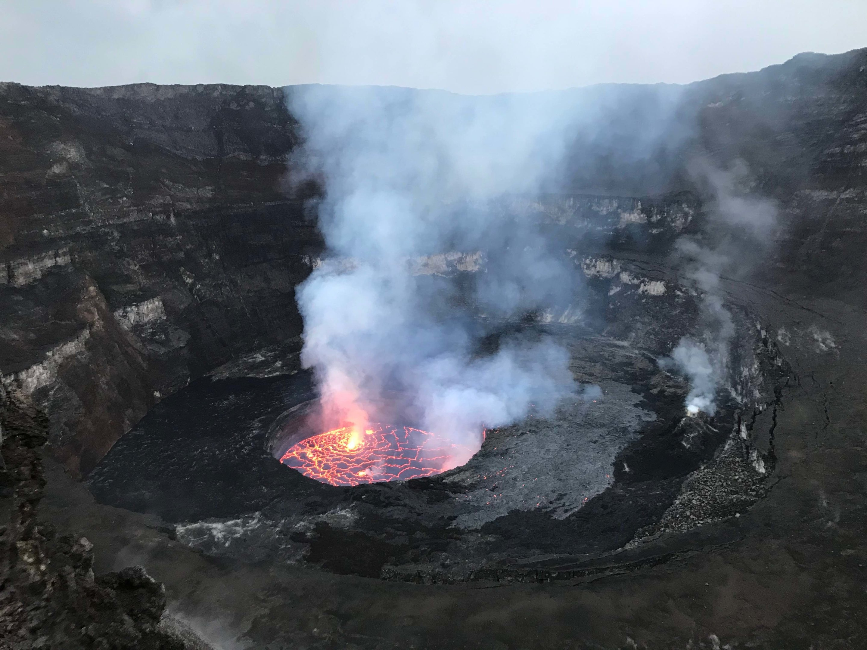 Nyiragongo Volcano Eruption Monitoring lava...