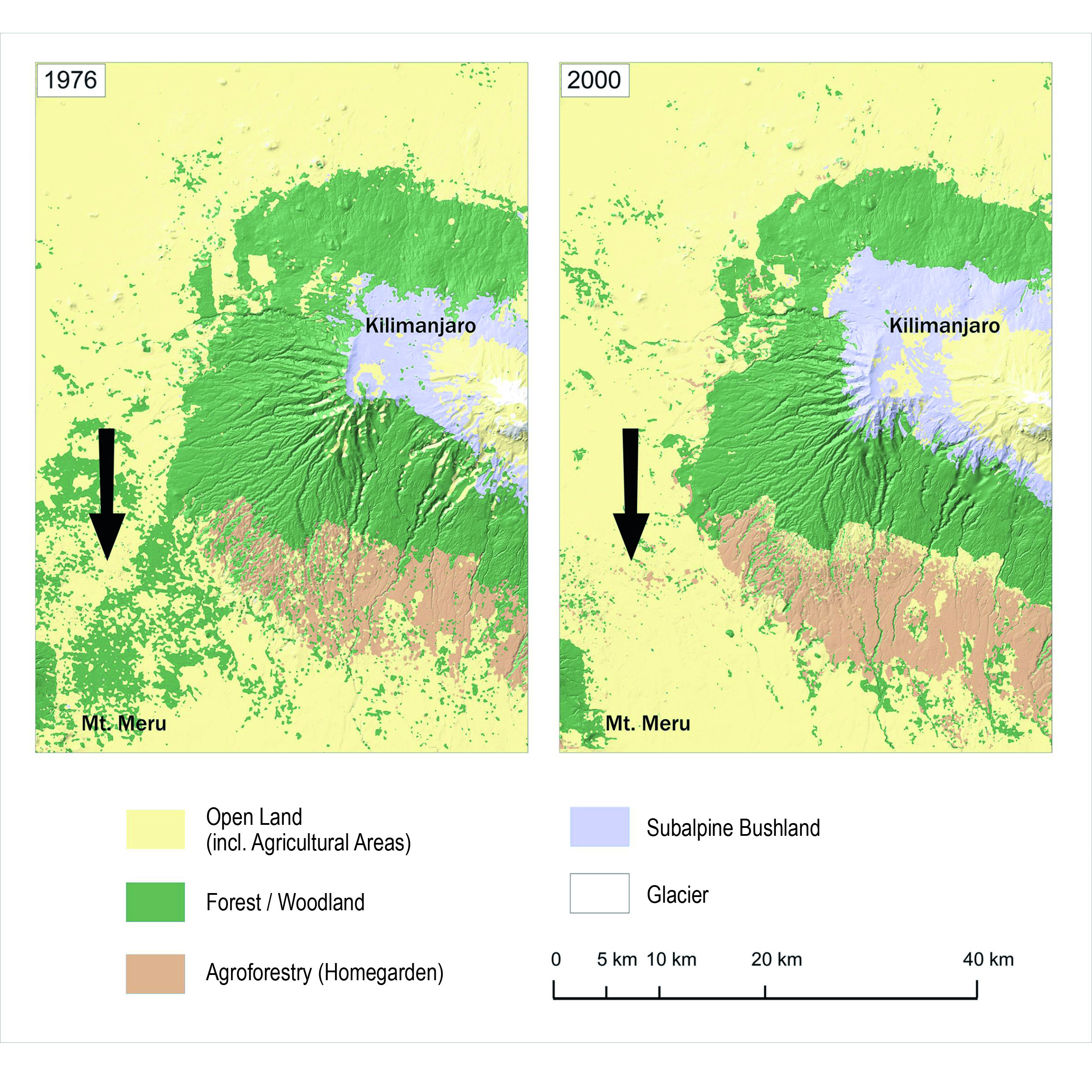 Where Is Mount Kilimanjaro On A Map Of Africa.Mountains Become Islands Ecological Dangers Of Increasing Land Use