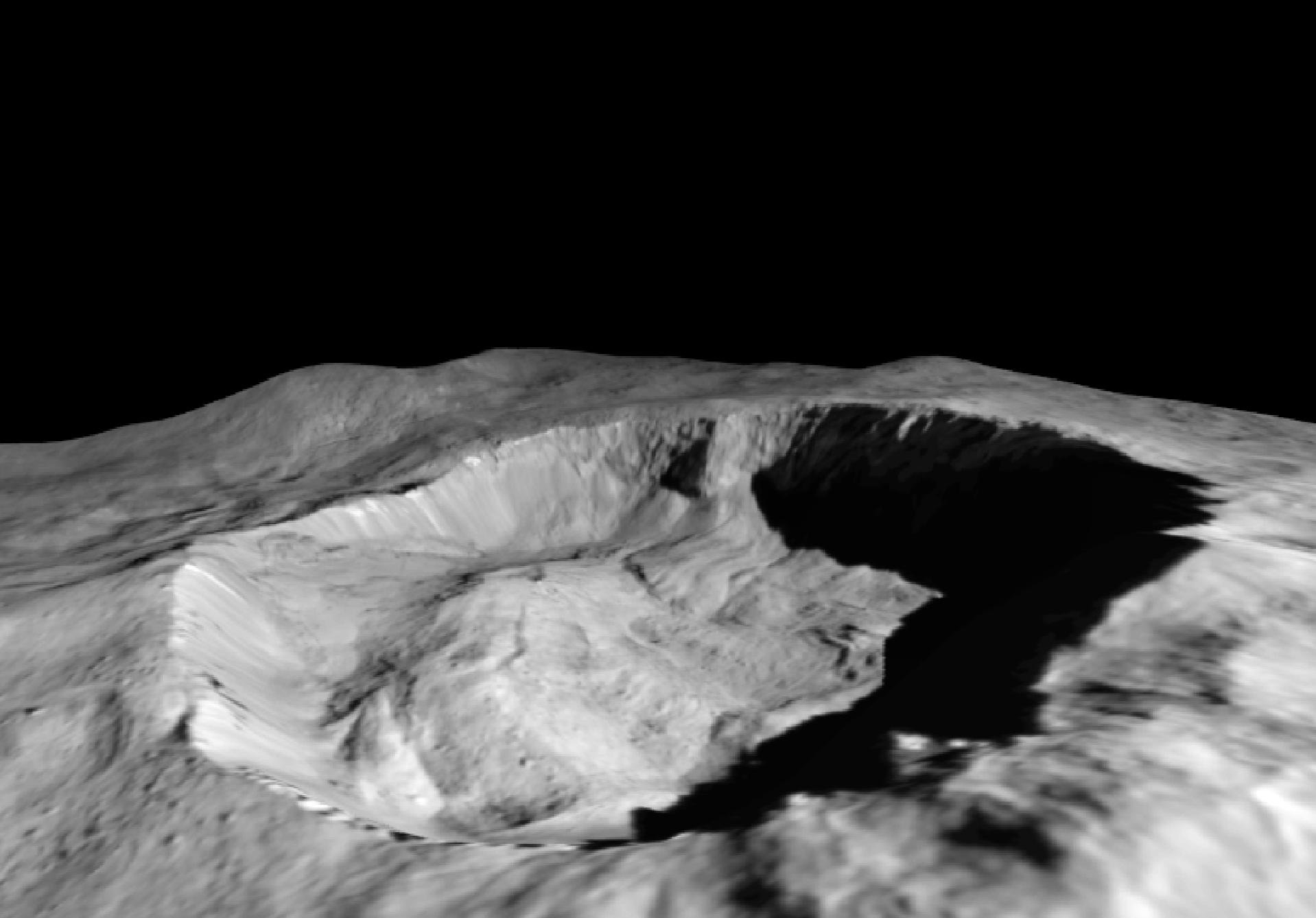 dawn reveals recent changes in ceres surface