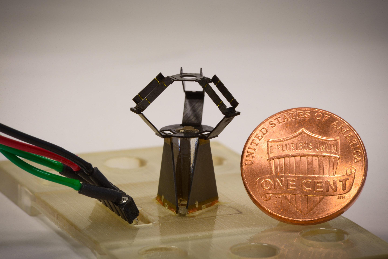 Miniaturized origami inspired robot combines micrometer precision miniaturized origami inspired robot combines micrometer precision with high speed jeuxipadfo Choice Image