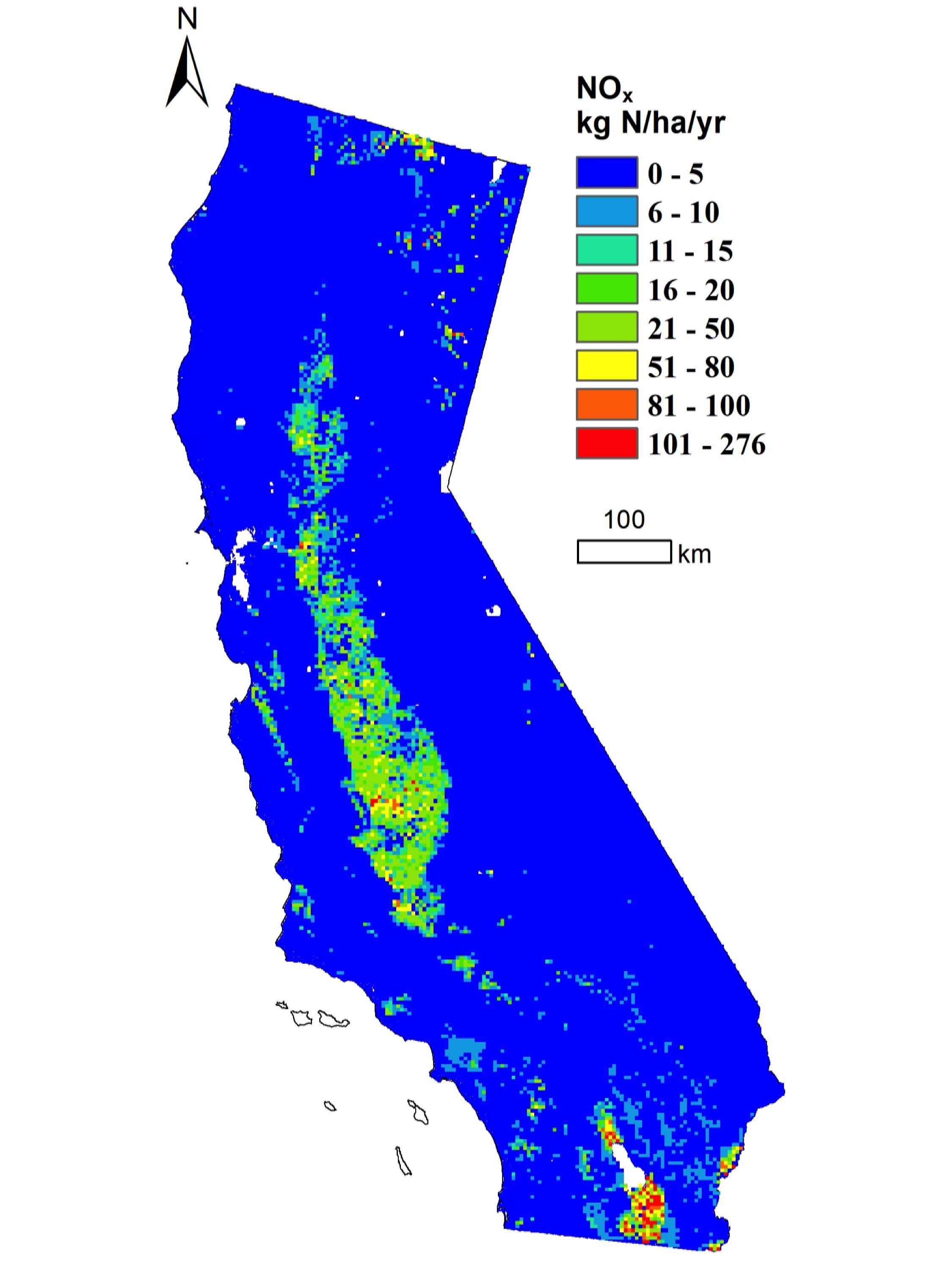 Uc Davis California Map.Central Valley Soil Emissions A Large Source Of State S Nitrogen