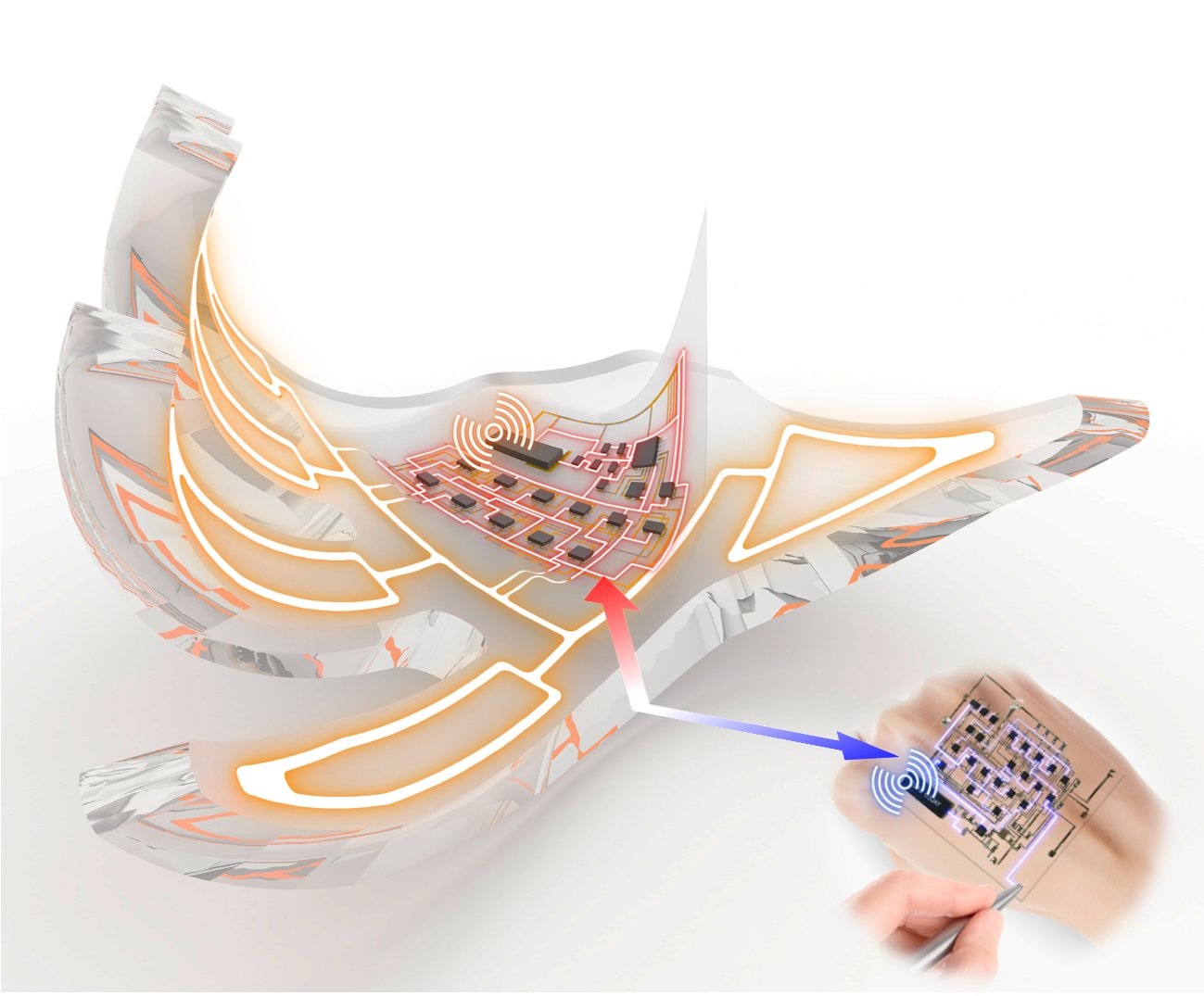 Researchers develop electronic skins that wirelessly ...