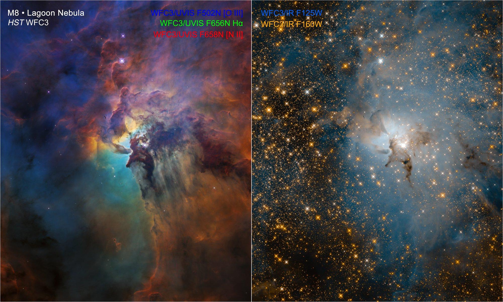 Breathtaking Nasa Hubble Space Hd Wallpapers: Two Hubble Views Of The Same Stellar Nursery