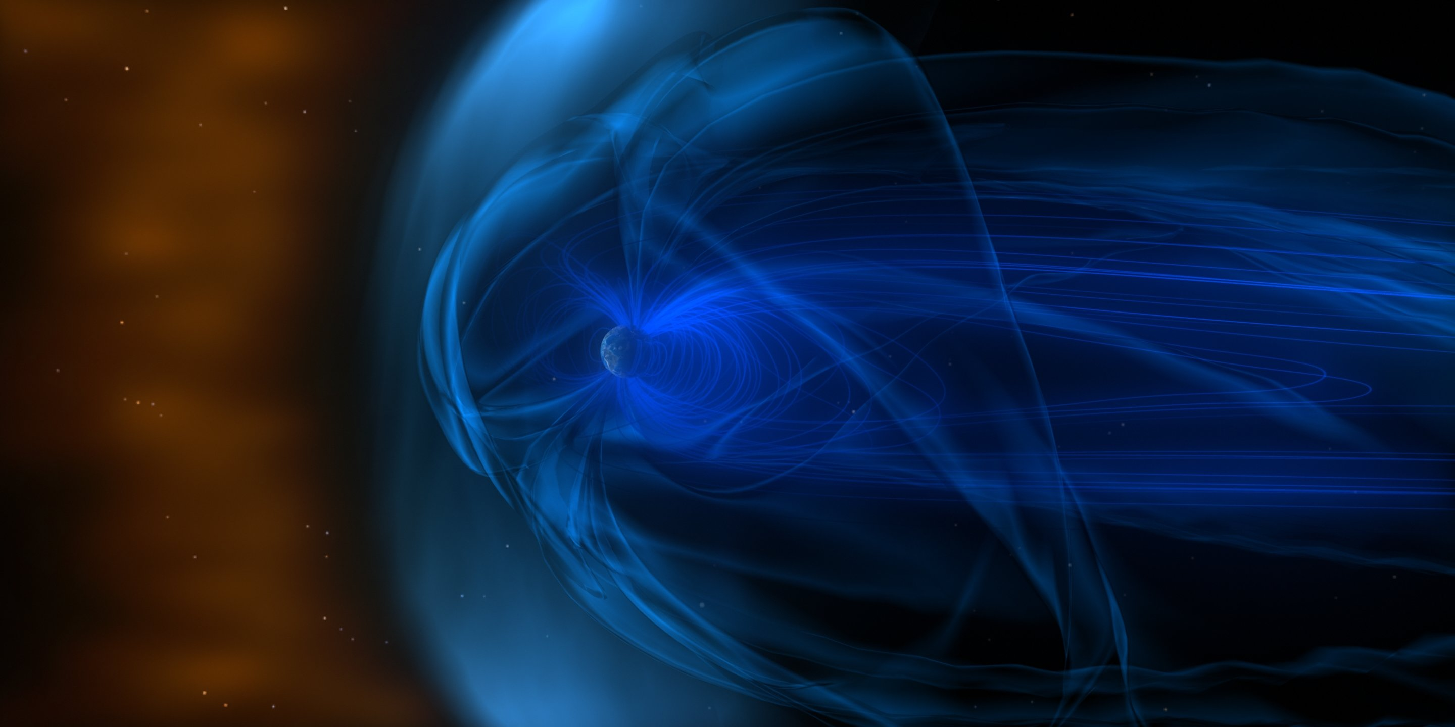 Study shows how Earth slows the solar wind to a gentle breeze