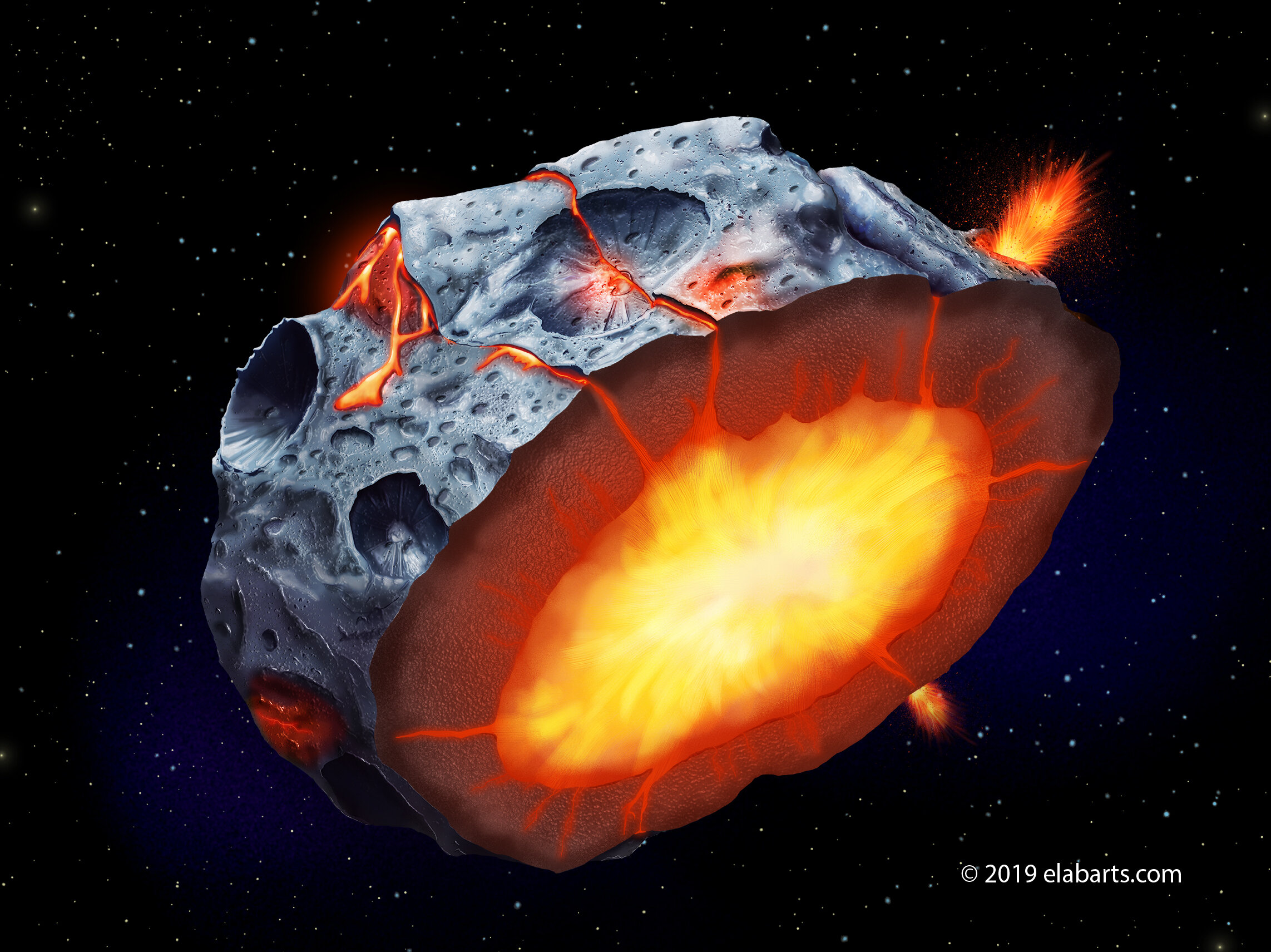 Santa Fe News >> Iron volcanoes may have erupted on metal asteroids
