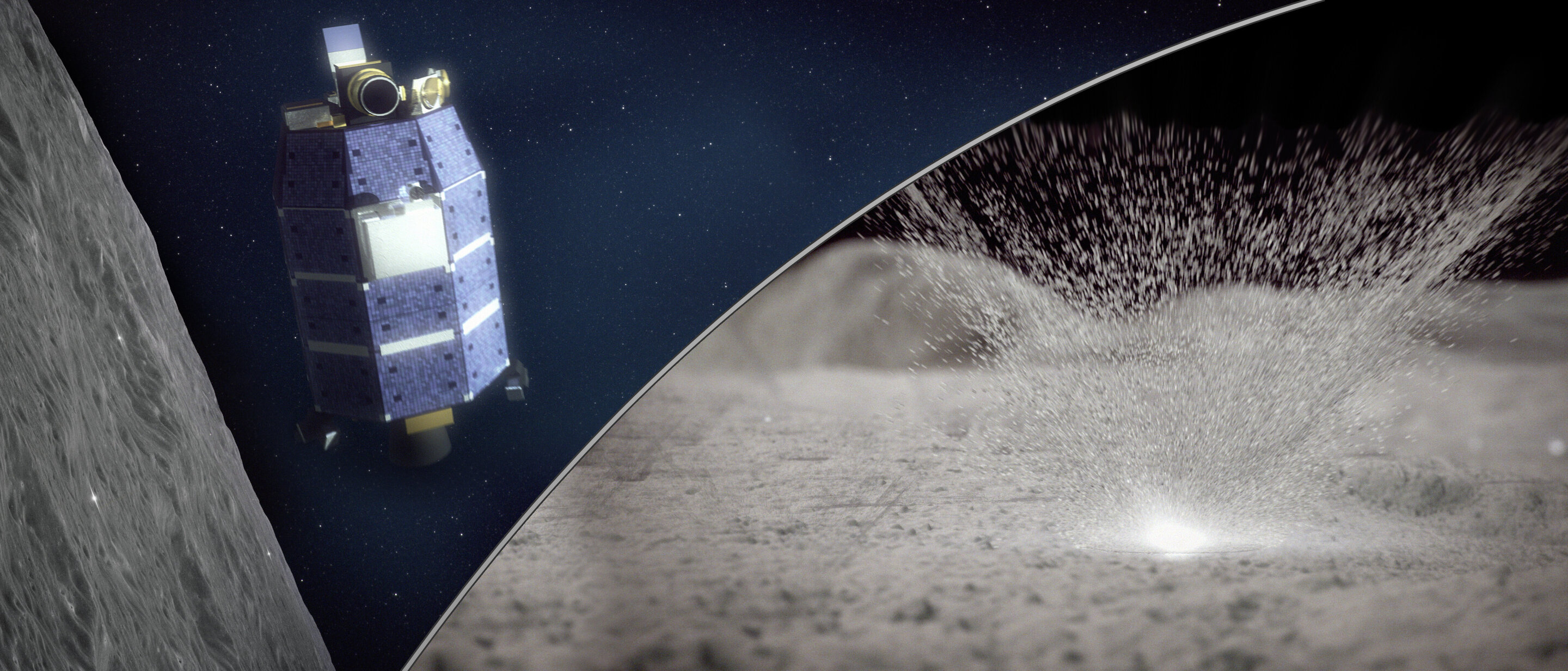 Meteoroid strikes eject precious water from moon