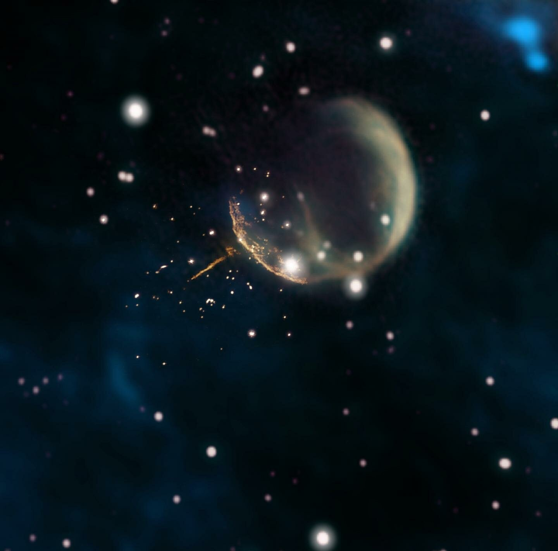 Fermi Satellite clocks 'cannonball' pulsar speeding through space