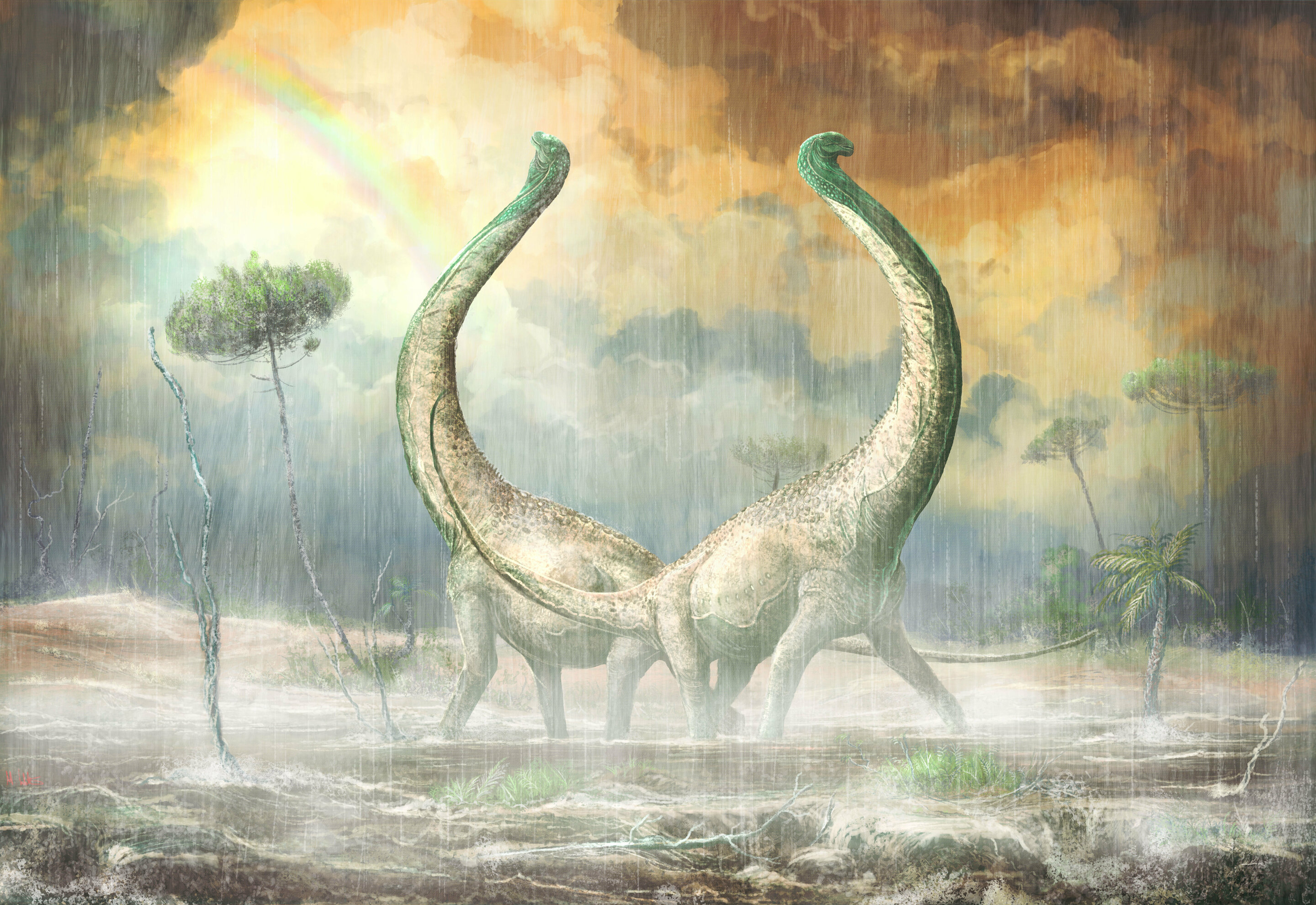 Mnyamawamtuka: New dinosaur with heart-shaped tail ...