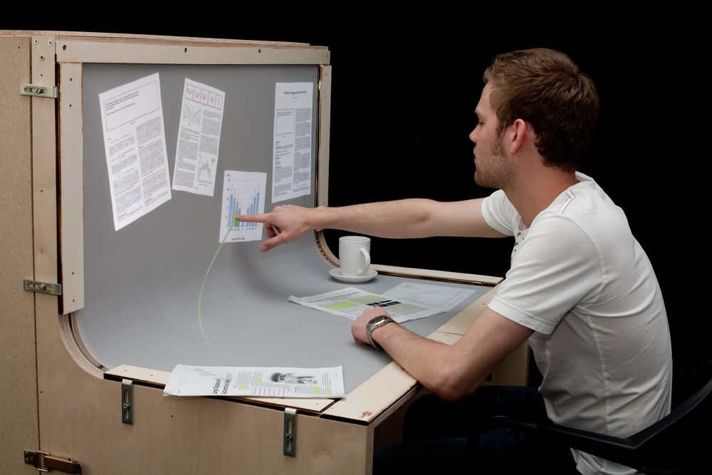 benddesk introduced the desk that is a touch screen w video rh phys org touch screen desktop touch screen desktop games