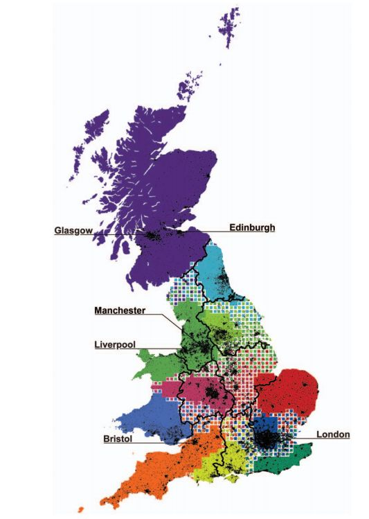 Redrawing the map of great britain based on human interaction gumiabroncs Image collections