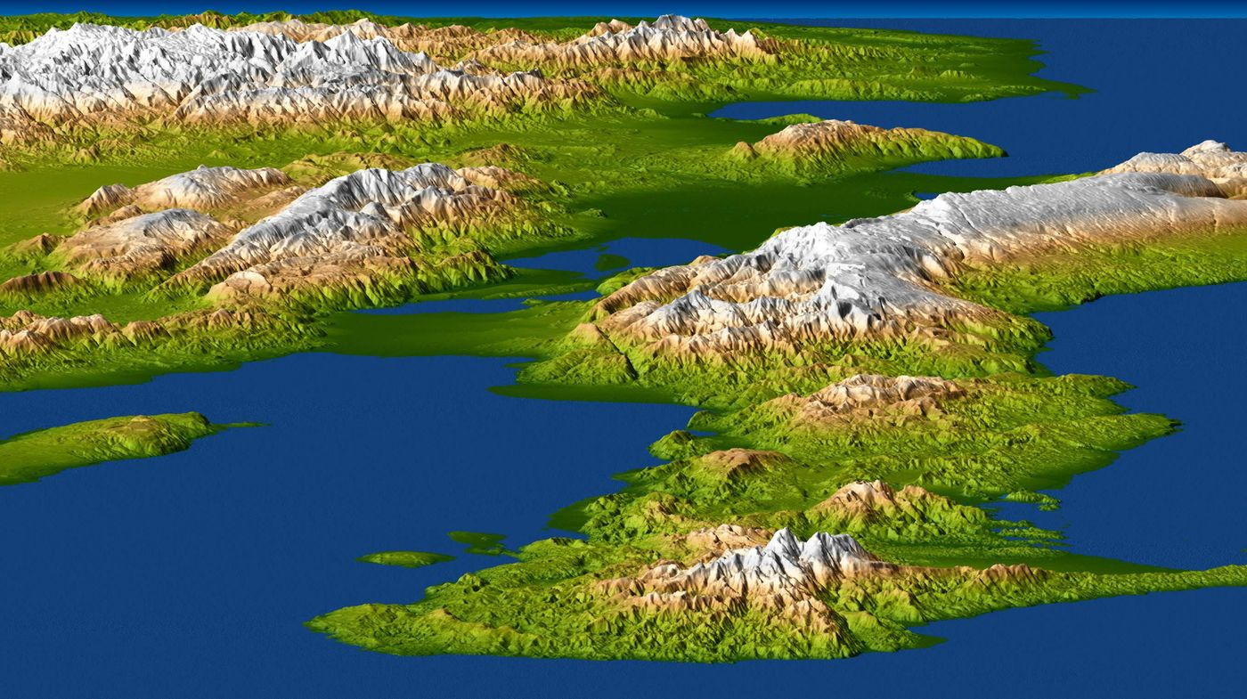 Landform Map Island