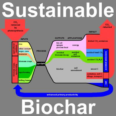 Charcoal takes some heat off global warming carbon emissions can be sustainably offset by producing biochar from waste and residue biomass as demonstrated in this schematic of the pyrolysis process ccuart Choice Image