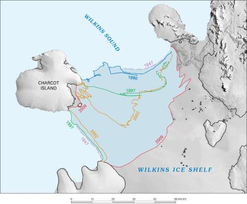 ice shelf locations in Antarctica