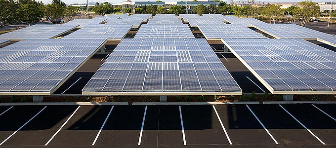 Parking Lots Could Become Solar Groves W Video