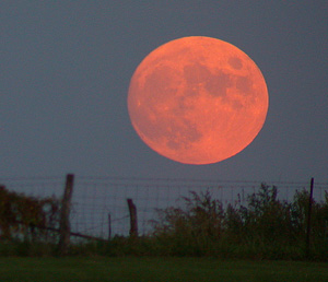 giant red moon tonight - photo #13