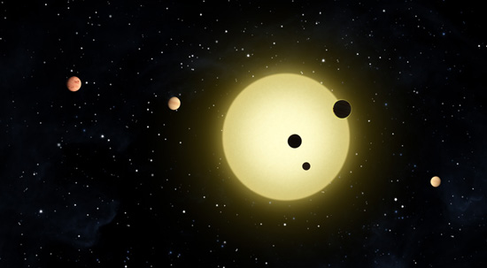 Six small planets orbiting a sun-like star amaze astronomers