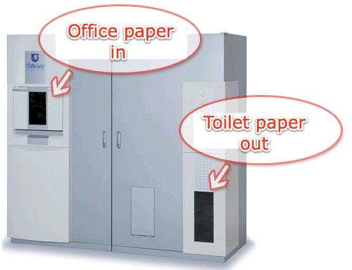 Japanese machine turns office paper into toilet paper (w/ Video)